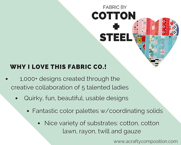 Why I love Cotton + Steel Fabric