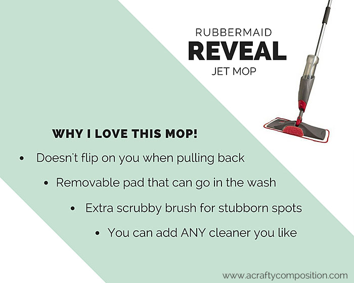 Why I love the Rubbermaid Reveal Jet Spray Mop