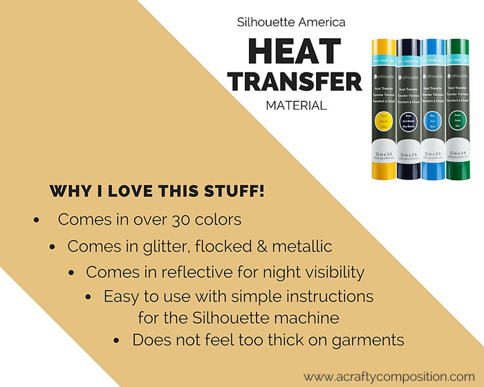 Why I love Silhouette Heat Transfer Material