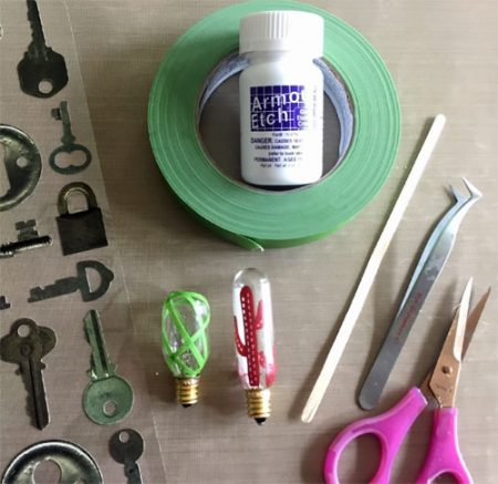 DIY Light Bulb Etching Supplies