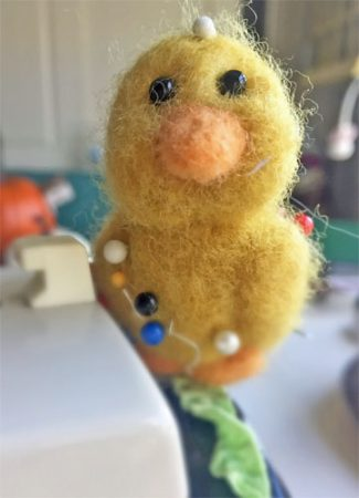 Chick Felted Pin Cushion