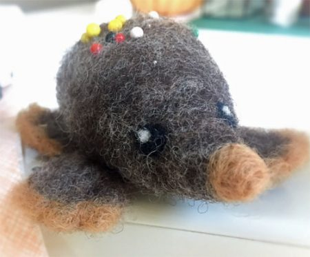 Platyhog Felted Pin Cushion