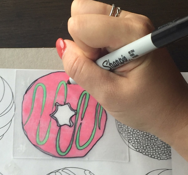 Coloring and Tracing Shrinky Dinks